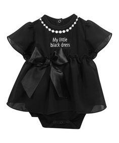 Black 'Little Black Dress' Bodysuit Dress