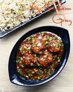 veg manchurian gravy Cabbage, finely chopped 1/2 cup Carrot, finely chopped 1/4 cup Beans, finely chopped 1/4 cup All purpose flour/ maida 1/2 cup, heaped Corn flour 2 tblsp, heaped Black Pepper powder 3/4 tsp Soya sauce 1 tsp Salt & water Spring onion 4 sprigs Garlic, big variety 6 flakes, finely chopped Fresh red ripe chilli/ green chilli (optional) 2 Pepper powder 1 tsp Soya sauce 1 & 1/2 tblsp Chilli Tomato sauce 1/4 cup Corn flour 1 & 1/2 tblsp Water 1 cup Oil 2 tblsp Salt