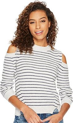 65b87df2207aa5 Lucky Brand Womens Cold Shoulder Sweatshirt Natural Multi XSmall -- Click  image for more details