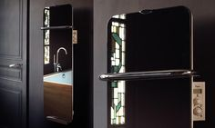 Un superbe sèche-serviettes miroir ! #deco #design