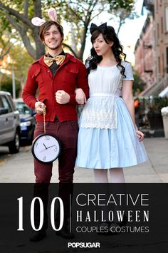 100 Creative Halloween Couples Costume Ideas- Maybe next year we'll get to do something fun for Halloween!! Halloween Costume Couple, Cute Couples Costumes, Cool Halloween Costumes, Diy Halloween Costumes, Costume Ideas, Halloween Couples, Rabbit Halloween, Halloween Ideas, Adult Halloween