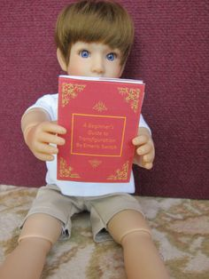 Doll sized Harry potter text books