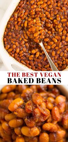 Introducing the best vegan baked beans in the world! Made with canned beans, this recipe is easy and quick! Introducing the best vegan baked beans in the world! Made with canned beans, this recipe is easy and quick! Baked Beans Vegan, Canned Baked Beans, Easy Baked Beans, Baked Bean Recipes, Veggie Recipes, Whole Food Recipes, Vegetarian Recipes, Healthy Recipes, Canned Beans Recipe