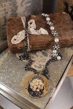 ClockPart Necklace by HaveFaithDesigns on Etsy, $42.00
