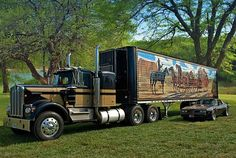 This great looking 1973 Kenworth W900A Smokey and the Bandit Replica Semi has been on display at Riverside, Mo.