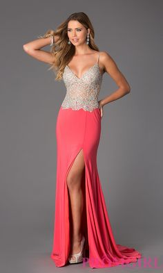 Prom Dresses, Plus Size Dresses, Prom Shoes: Floor Length Sleeveless JVN by Jovani Dress with Illusion Bodice