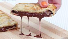 Trança folhada de chocolate