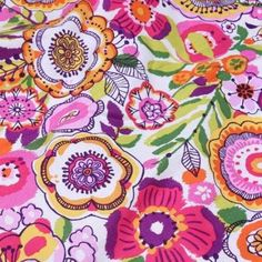 2014 spring fabric Vera Bradley fabric Remnant 100% Cotton clementine 1 Yard