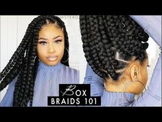What are the box braids? We braid hair since the dawn of time, so we found traces of braided hairstyles dating back to Prehistory! After a dazzling comeback in the the fashion of braids (or rather mats) does not seem… Continue Reading → Box Braids Hairstyles For Black Women, Twist Braid Hairstyles, Grease Hairstyles, Black Girl Braids, Braids For Black Hair, Hairstyle Short, Big Box Braids, Jumbo Braids, Box Braids Styling