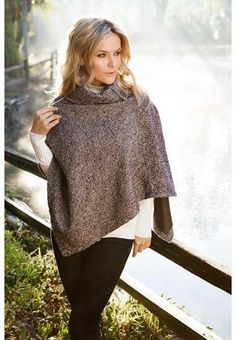 draped sweater ponchos