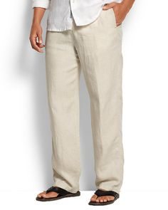 5fdd49f5ab TOMMY BAHAMA NEW LINEN ON THE BEACH EASY FIT PANTS Mens Wedding Shirts, Mens  Beach