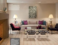.love the pillows and zebra print!!