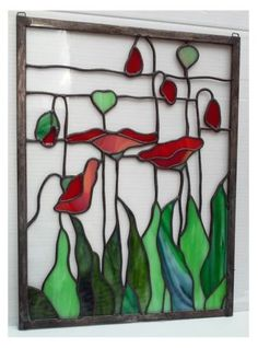 Stained-Glass-Window-Panel-Suncatcher-Parade-of-Poppies-II