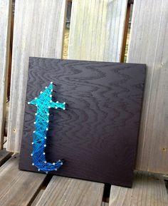 Letter T Typography String Art - Custom Letters etsy.com/shop/kimberlygeer