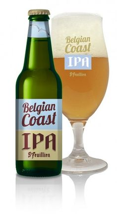 St-Feuillien Belgian Coast is a light IPA, dark golden in colour with subtle hints of orange and a firm, white head. Ipa, Malted Barley, Beer Art, Acquired Taste, Beers Of The World, All Beer, Natural Preservatives, Belgian Beer, Drink