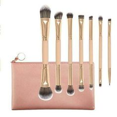7pcs Makeup Brush Set Blush Nose Eyeshadow Eyebrow Foundation Best Lip Brus Q9D2