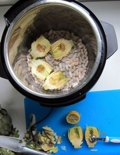 FRESH Artichoke & White Bean Dip - pressure cook the two together and puree' with a few key ingredients for a delicious spread!