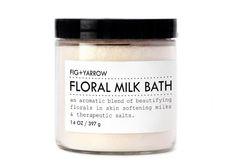 FLORAL MILK BATH - large glass jar - skin-softening - relaxing - beautifying - aromatherapeutic - organic - apothecary. $32.00, via Etsy.