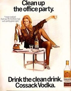 Although this is an old ad, this is an ad for alcohol and the women showing her legs is being sexualized, and is being used to sell the product.