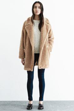 Jackets & Coats | Brown OVERSIZED POCKET TEDDY COAT | Warehouse