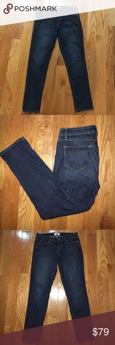 """Paige Ankle Jeans Authentic Paige cropped denim--ankle length. Jeans so have some stretch and are a darker denim. Style is """"Kylie Cropped"""". PAIGE Jeans Ankle & Cropped"""