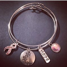 A personal favorite from my Etsy shop https://www.etsy.com/listing/185686332/breast-cancer-bracelet-set