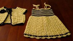 Crochet child sundress and matching bolero..if you've been  crocheting a while...you can study this video and easily make it yourself !