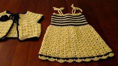 Crochet child sundress and matching bolero