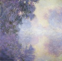 IMPRESSIONISM: Claude Monet. Arm of the Seine near Giverny in the Fog, 1897
