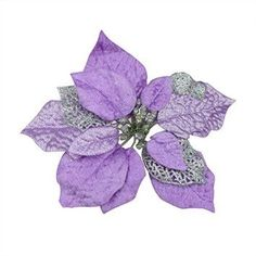 3pcs Luxury 8 Inch Glitter Artificial Christmas Flowers XMAS Tree Wreaths Decor Ornament Purple    Purple christmas decor is cute, mysterious and festive.  You can have a unique home with all kinds of purple christmas decorative accents.  My favorites are the purple christmas ornaments as they are cute and are unique.  This is a really cool decorating idea if you enjoy purple home decor ideas and hopefully you can gain some purple inspiration of your own.