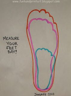 1/23 Measure Your Feet Day  Handprint and Footprint Arts & Crafts: Measure Your Feet Day Crafts