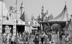 Then and Now: Fantasyland at Disneyland Park - what it looked like in 1955 when it opened
