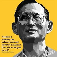 thailand-king-bhumibol-canvas-quotes-wall-decals-photo-painting-pop-art-poster