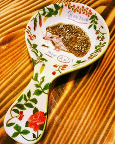 I saw this spoon rest and knew I couldn't leave without it  #anthropologie #hedgehog #spoonrest #kitchen #kitsch #cute #love