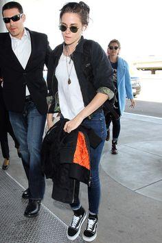 Celebrities Wearing Vans Sneakers: Kristen Stewart