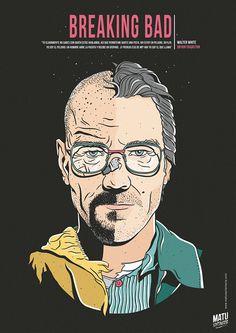 Breaking Bad - poster - Matu Santamaria