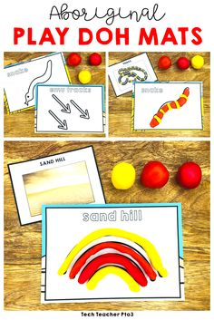 Explore Aboriginal Art symbols with these fun Aboriginal Art play doh mats. Use as part of your exploration of Australian History within your HASS unit or use as a fun activity for early years students. Aboriginal Art Symbols, Aboriginal Art For Kids, Aboriginal Education, Indigenous Education, Aboriginal Culture, Indigenous Art, Naidoc Week Activities, Preschool Activities, Educational Activities