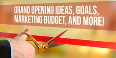 Grand opening ideas goals marketing budget and more Fit Small Business Marketing Budget, Marketing Plan, Business Marketing, Salon Party, Grand Opening Party, Chiropractic Office, Opening A Business, Salon Business, Create Awareness