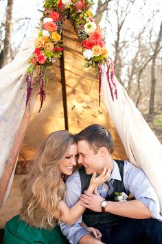 edgy glamping inspiration // photo by Sarah Tamagni // floral design by Lisa's Flor Decor