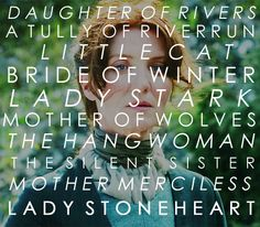 Catelyn Stark: Daughter of Rivers. A Tully of Riverrun. Mother of Wolves. The Hangwoman. The Silent Sister. Game Of Thrones Funny, Hbo Game Of Thrones, Michelle Fairley, Catelyn Stark, Drinking Milk, The North Remembers, Shes Amazing, House Stark, Nerd Love
