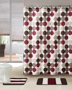 burgundy shower curtain sets. 3 piece bath rug set w/ shower curtain and matching rings (brown/burgundy) burgundy sets