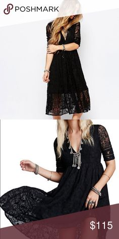BNWT! Free People mountain laurel dress BNWT free people mountain laurel dress. Size 0. Midi dress length. Beautiful dress. Originally $168 and sold out. Perfect for any occasion! 💕 Free People Dresses