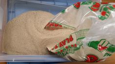 What you Need to Make 50 lbs. of Kinetic Sand:  50 lb. bag of sand:  $3.69 6 cups Cornstarch – about half the container you see above comes out to less than $2.00 per recipe Dishsoap – I only needed a few tablespoons, and you can usually get this free/cheap with coupons Water  First, leave the bag in whatever bin/container you are using.  It will be much easier to slit the bottom and empty it: