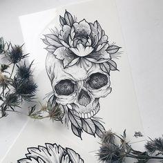 Dragon Tattoo Back Piece, Dragon Sleeve Tattoos, Back Tattoo, Tattoo Sketches, Tattoo Drawings, Art Sketches, Tatto Skull, Skull Art, Mangas Tattoo