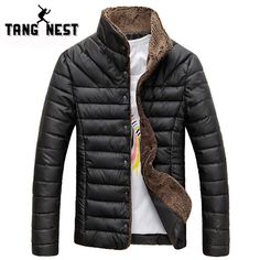 2016 Men Winter Jacket Warm Casual All-match Single Breasted Solid Men Coat Popular Coat For Male Black Color Size M-3XL MWM432 ** Want to know more, click on the image.