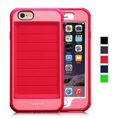 Fintie iPhone 6 Case - [CaseBot Tough Suit Series] Ultra Rugged Shockingly Thin Protective Cover Impact Resistant Bumper for iPhone 6 (4.7) - Magenta Fintie http://www.amazon.com/dp/B00P78N9Y4/ref=cm_sw_r_pi_dp_-xjUub0P00FC0