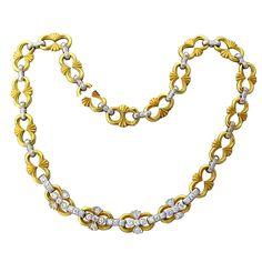 BUCCELLATI Gold  Diamond Necklace