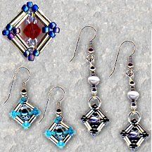 Liquid Silver Earrings; Can do as is with resin, but I like the idea of using beads and going a little more in depth.