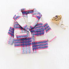 28.69$  Watch now - https://alitems.com/g/1e8d114494b01f4c715516525dc3e8/?i=5&ulp=https%3A%2F%2Fwww.aliexpress.com%2Fitem%2FGirl-Autumn-Winter-Woolen-coat-New-2016-Fashion-Baby-Girls-Wool-blazer-Coat-Jacket-Children-Outwear%2F32767151904.html - Girl winter thicken woolen plaid purple coat toddler baby girls wool coat jacket children outwear trench blazer coat warm outfit