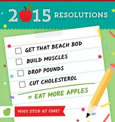 Challenge yourself to eat at least #TwoApplesADay during January and watch the results!